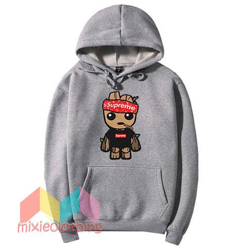 Baby Groot X Supreme Hat Parody Hoodie