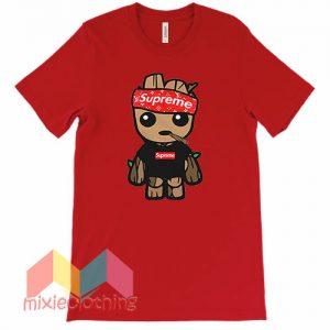 Baby Groot X Supreme Hat Parody T-shirt
