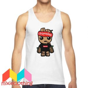 Baby Groot X Supreme Hat Parody Tank Top