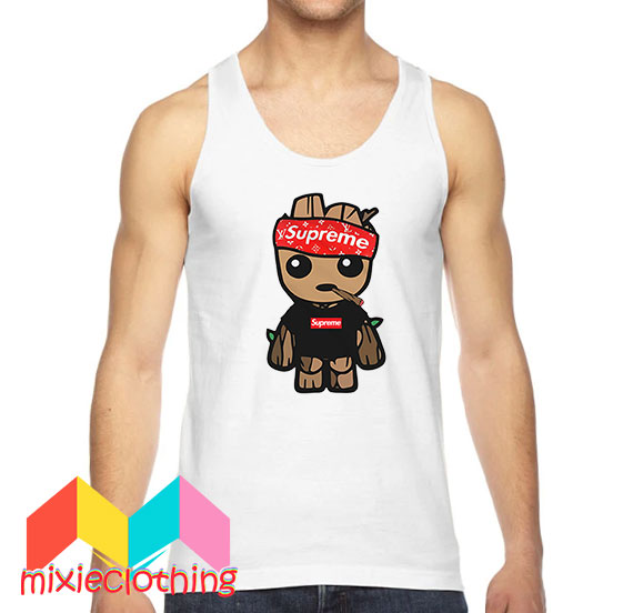 Baby Groot X Supreme Hat Parody Tank Top