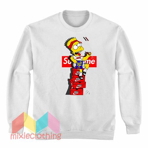 Bart Simpson X Supreme Sneaker Parody Sweatshirt