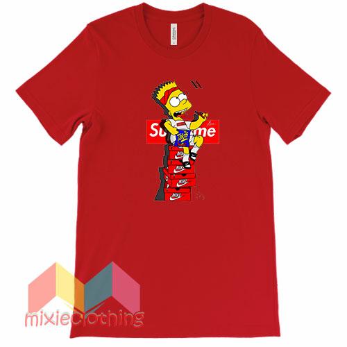 Bart Simpson X Supreme Sneaker Parody T-shirt
