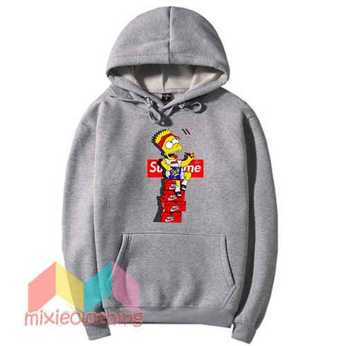 Bart Simpson X Supreme Sneaker Parody Hoodie