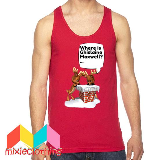 Free Ghislaine Maxwell Christmas Tank Top