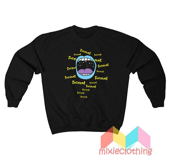 Cheap Tatocat Band Mouthy Blue Sweatshirt