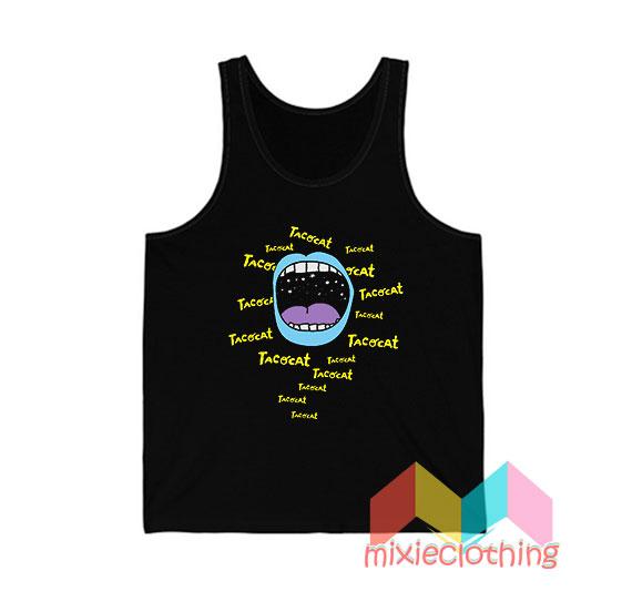 Cheap Tatocat Band Mouthy Blue Tank Top