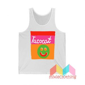 Cheap Smile Striped Tatocat Band Tank Top
