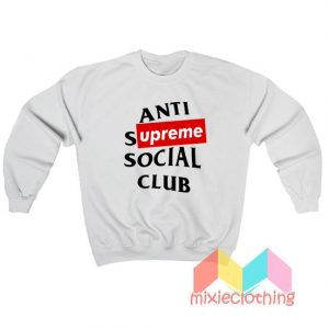 ASSC Anti Supreme Social Club Parody Sweatshirt