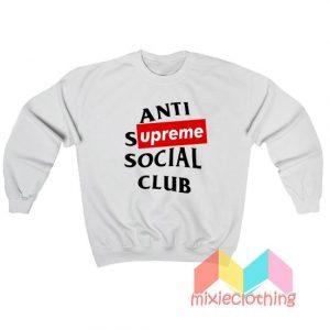 ASSC Anti Supreme Social Club Parody Sweatshirt