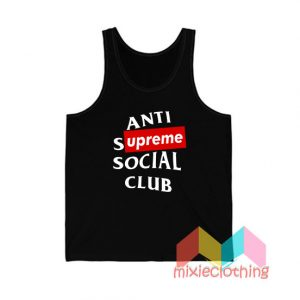 ASSC Anti Supreme Social Club Parody Tank Top