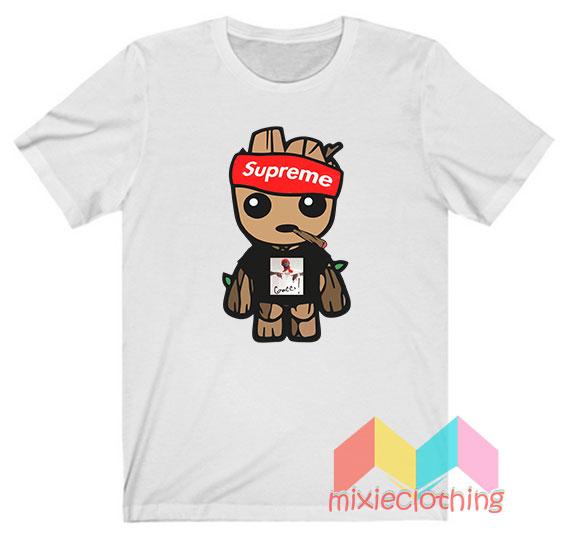 Baby Groot X Gucci Mane X Supreme Parody T-shirt