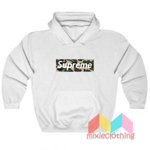 Cheap Bape Camo X Supreme Logo Parody Hoodie