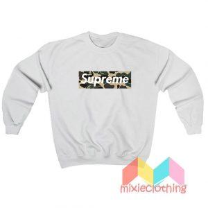 Cheap Bape Camo X Supreme Logo Parody Sweatshirt