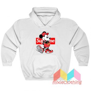 Mickey Mouse X Supreme Parody Hoodie