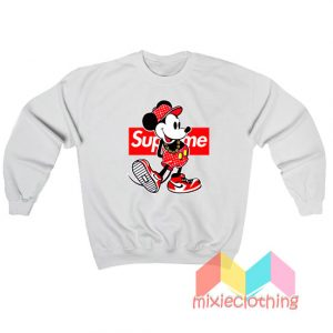 Mickey Mouse X Supreme Parody Sweatshirt