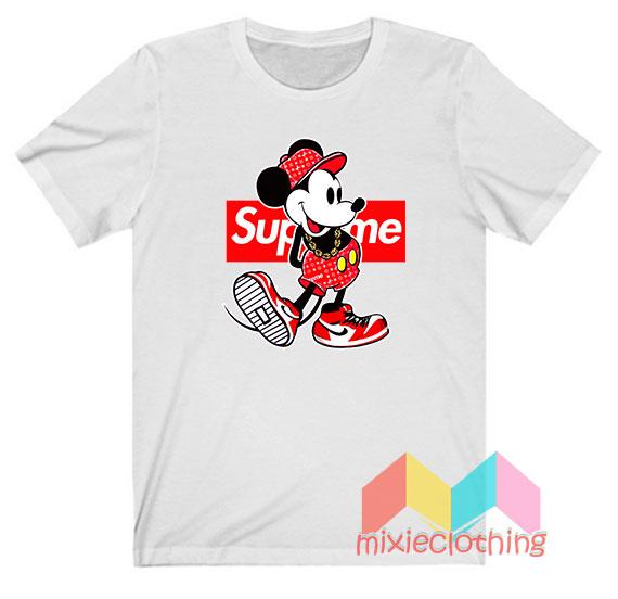 Mickey Mouse X Supreme Parody T-shirt