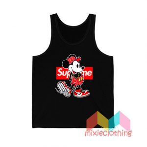 Mickey Mouse X Supreme Parody Tank Top