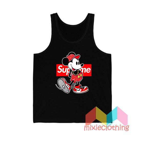Mickey Mouse X Supreme Parody Tank Top
