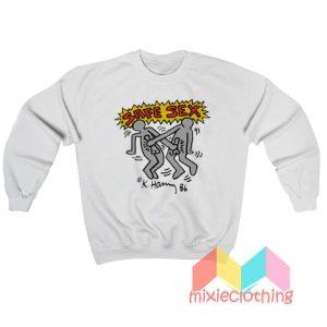 Keith Haring Safe Sex Harry Styles Sweatshirt
