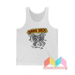 Keith Haring Safe Sex Harry Styles Tank Top