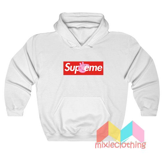 Cheap Peppa Pig X Supreme Logo Parody Hoodie