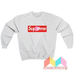 Cheap Peppa Pig X Supreme Logo Parody Sweatshirt