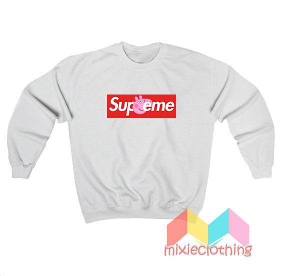 Cheap Peppa Pig X Supreme Logo Parody Sweatshirt