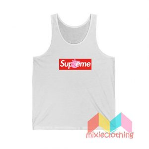 Cheap Peppa Pig X Supreme Logo Parody Tank Top
