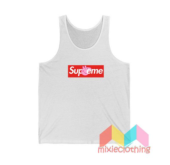 Cheap Peppa Pig X Supreme Logo Parody Tank Top