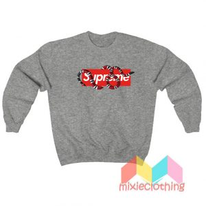 Cheap Red Snake X Supreme Logo Parody Sweatshirt