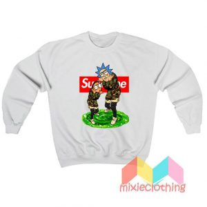 Rick And Morty Camo X Supreme Parody Sweatshirt