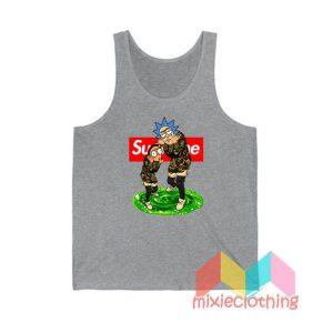 Rick And Morty Camo X Supreme Parody Tank Top