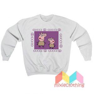 Peppa Pig Fancy X Gucci Parody Sweatshirt