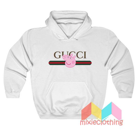 Peppa Pig X Gucci Stripe Parody Hoodie