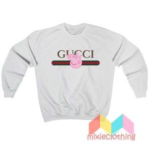 Peppa Pig X Gucci Stripe Parody Sweatshirt