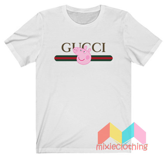 Peppa Pig X Gucci Stripe Parody T-shirt