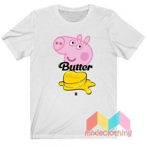 BTS Butter X Peppa Pig T-shirt