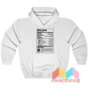 BTS Nutritional Facts Hoodie