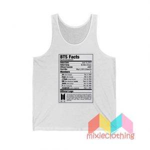 BTS Nutritional Facts Tank Top