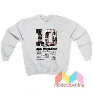 10 Years Of One Direction Sweatshirt