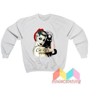 Official Cat Lady Girl Sweatshirt
